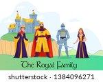medieval kingdom royal family... | Shutterstock .eps vector #1384096271