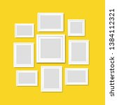 picture frame isolated yellow... | Shutterstock .eps vector #1384112321
