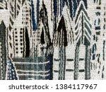 unique hand made weaving close  ... | Shutterstock . vector #1384117967