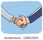 Handshake Man And Woman....