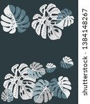 vector tropical pattern with... | Shutterstock .eps vector #1384148267