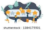 vector cartoon illustration of... | Shutterstock .eps vector #1384175501