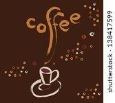 poster. coffee. vector. | Shutterstock .eps vector #138417599