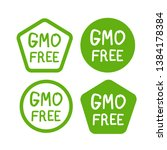 gmo free product icon  isolated ...   Shutterstock .eps vector #1384178384