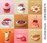 berry dessert icons set.... | Shutterstock .eps vector #1384188374