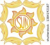 sun. beautiful nature... | Shutterstock .eps vector #1384192187