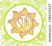sun. beautiful nature... | Shutterstock .eps vector #1384192637