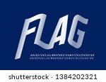 waving flag style font ... | Shutterstock .eps vector #1384202321