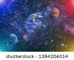 deep space. science fiction... | Shutterstock . vector #1384206014