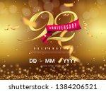 92 years anniversary logo... | Shutterstock .eps vector #1384206521