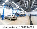 auto repair shop in bokeh ... | Shutterstock . vector #1384214621