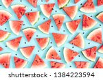 Watermelon Pattern. Red...