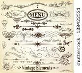 vector set of calligraphic...   Shutterstock .eps vector #138422531