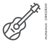 guitar line icon  melody and... | Shutterstock .eps vector #1384228244
