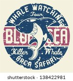 killer whale badge   artwork... | Shutterstock .eps vector #138422981