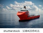 Offshore Supply Boat At Sea...