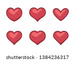 collection of heart...   Shutterstock .eps vector #1384236317
