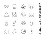 water icons set isolated on... | Shutterstock .eps vector #1384237067