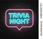 trivia night announcement neon... | Shutterstock . vector #1384260737