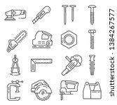 carpentry industry equipment... | Shutterstock .eps vector #1384267577
