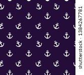 seamless anchor pattern flat... | Shutterstock .eps vector #1384267781