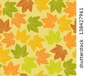 autumn pattern seamless | Shutterstock .eps vector #138427961