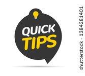 quick tips icon badge. top tips ... | Shutterstock .eps vector #1384281401