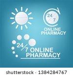online pharmacy concepts. set...