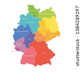 states of germany. map of... | Shutterstock .eps vector #1384289297
