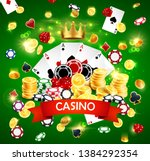 casino poker poster with joker... | Shutterstock .eps vector #1384292354
