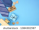 happy fathers day gift tag with ... | Shutterstock . vector #1384302587