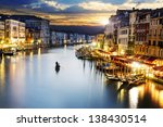 famous grand canale from rialto ... | Shutterstock . vector #138430514