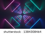 futuristic sci fi concrete room ...   Shutterstock . vector #1384308464