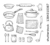 Sketch Kitchen Tools. Cooking...