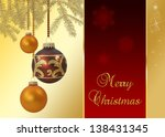 a noble and elegant christmas... | Shutterstock . vector #138431345