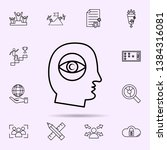 cognitive psychology icon.... | Shutterstock .eps vector #1384316081