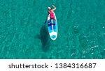 aerial drone bird's eye view... | Shutterstock . vector #1384316687