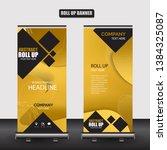 roll up business brochure flyer ... | Shutterstock .eps vector #1384325087