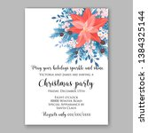 red poinsettia christmas party...   Shutterstock .eps vector #1384325144