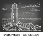 Sketch Of A Sea Landscape With...