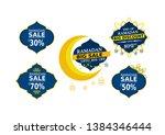set of ramadan kareem label ... | Shutterstock .eps vector #1384346444