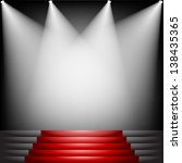 red carpet and stairs with...   Shutterstock .eps vector #138435365
