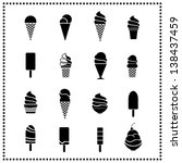 ice cream icons | Shutterstock .eps vector #138437459