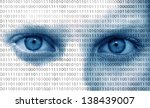 binary computer face | Shutterstock . vector #138439007