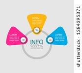 vector iinfographic template... | Shutterstock .eps vector #1384395371