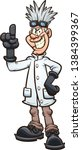 crazy thin evil scientist with... | Shutterstock .eps vector #1384399367