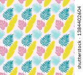 tropical pattern   colorful... | Shutterstock .eps vector #1384402604