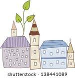 vector illustration of a city | Shutterstock .eps vector #138441089