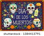 dia de los muertos mexican... | Shutterstock .eps vector #1384413791