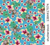 colorful seamless pattern wit... | Shutterstock . vector #1384417574